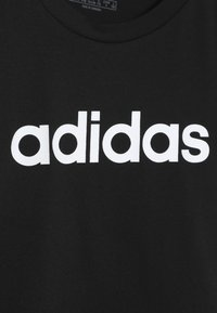 adidas Performance - LIN TEE - T-shirt con stampa - black/white - 3