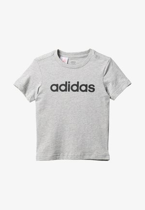 LIN TEE - T-shirts med print - mottled grey heather/black