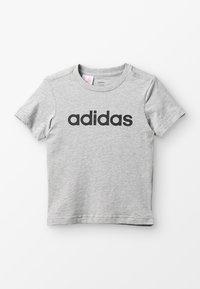 adidas Performance - LIN TEE - T-shirt print - mottled grey heather/black - 0