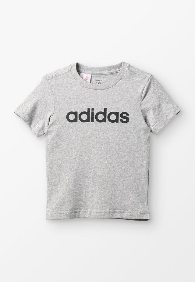 LIN TEE - T-shirt print - mottled grey heather/black