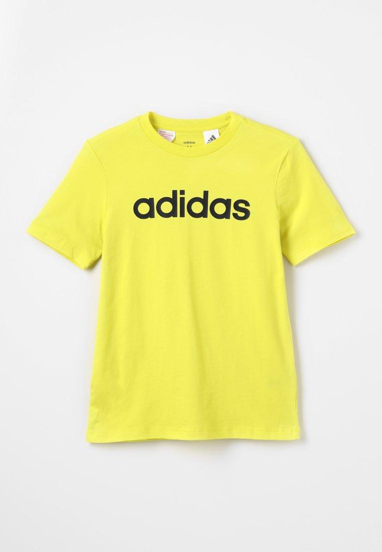 adidas Performance - LIN TEE - T-shirt con stampa - shock yellow/black
