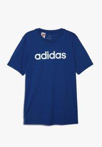 adidas Performance - LIN TEE - T-shirt con stampa - croyal/white - 0