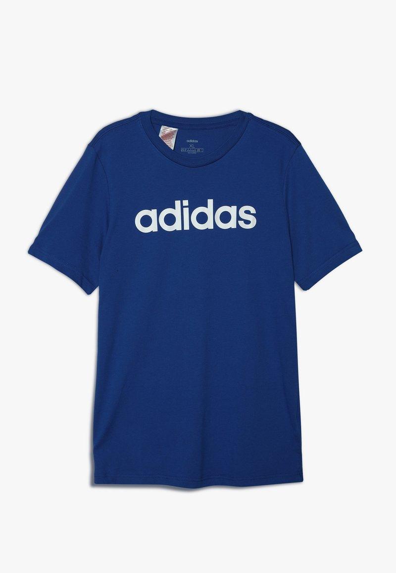 adidas Performance - LIN TEE - T-shirts print - croyal/white