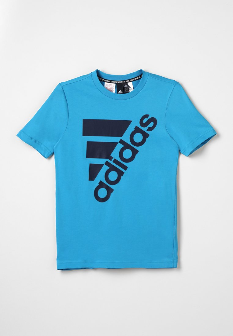adidas Performance - T-shirt med print - shock cyan/collegiate navy