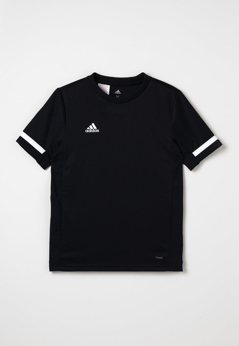 adidas Performance - T-shirt print - black/white