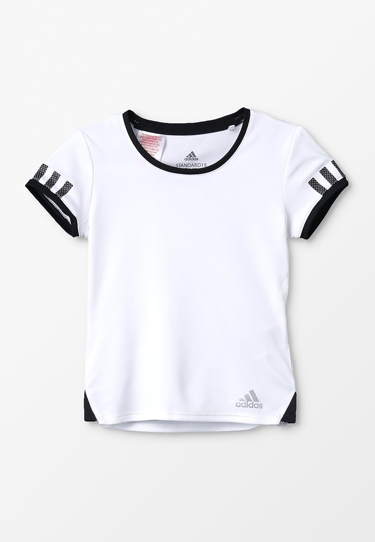 adidas Performance - CLUB TEE - Camiseta estampada - white