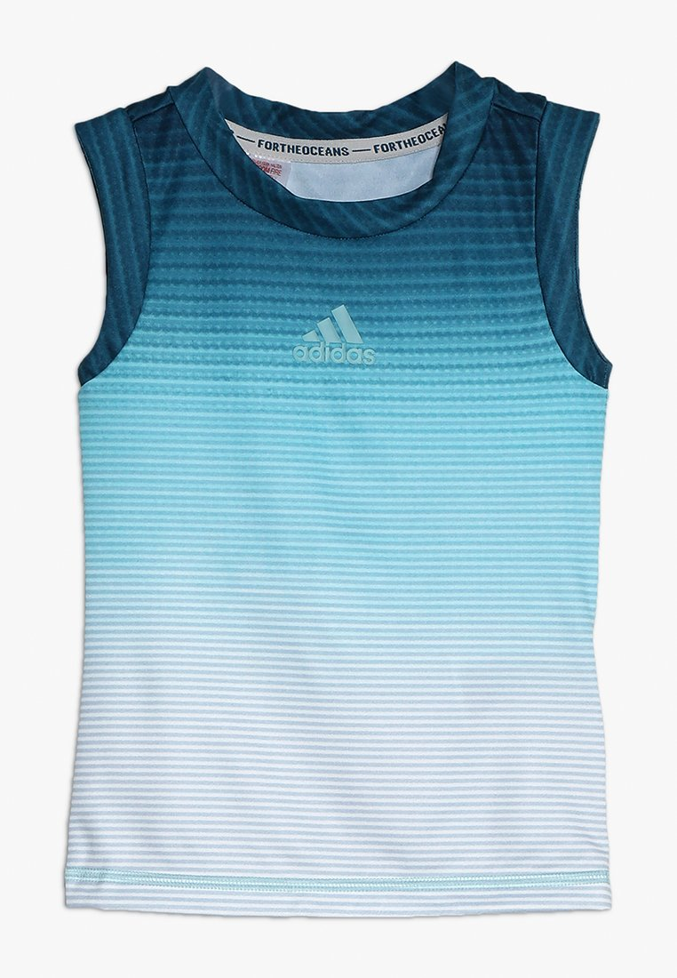 adidas Performance - PARLEY TANK - Top - blue/white