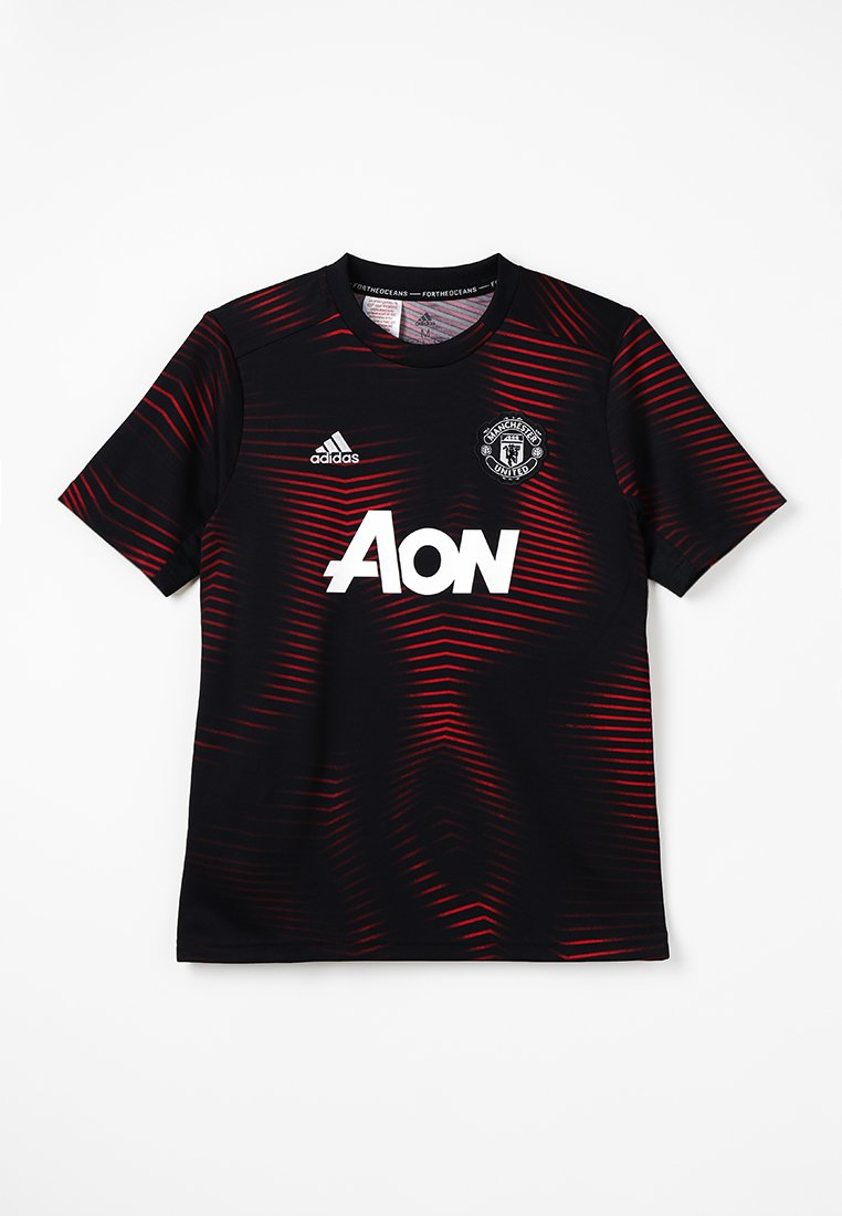 adidas Performance - MANCHESTER UNITED FC HOME - Fanartikel - black/real red