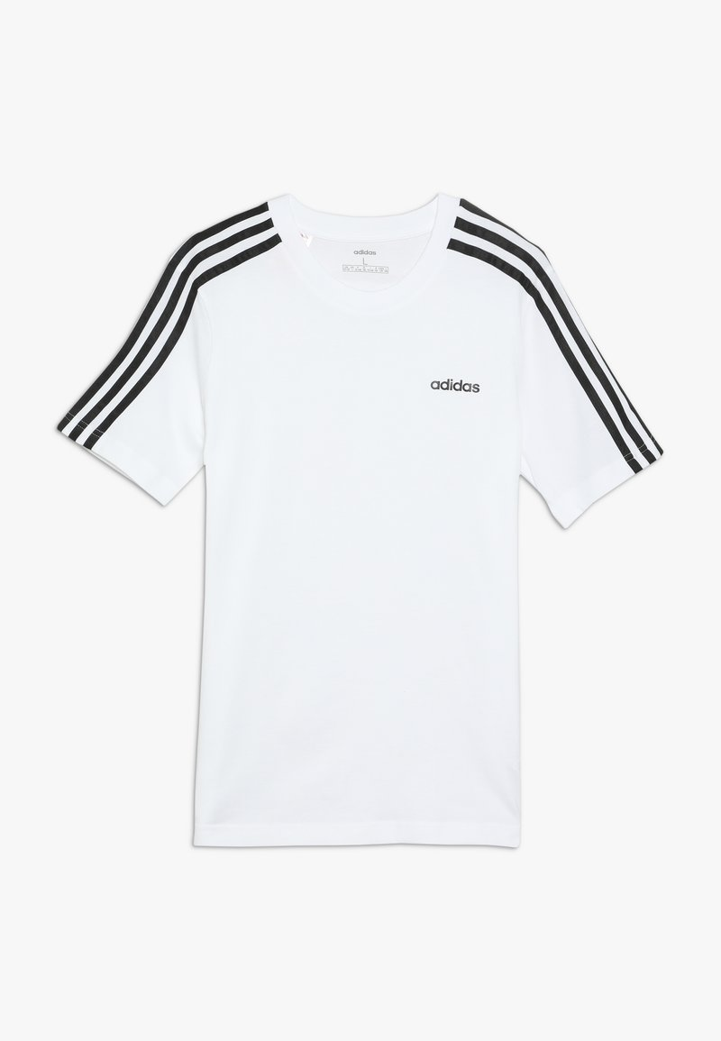 adidas Performance - ESSENTIALS 3STRIPES SPORT SHORT SLEEVE TEE - Camiseta estampada - white/black