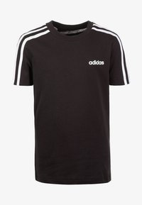 adidas Performance - ESSENTIALS 3STRIPES SPORT SHORT SLEEVE TEE - T-shirt print - black / white - 0