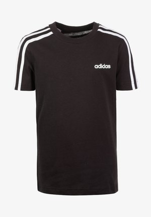 ESSENTIALS 3STRIPES SPORT SHORT SLEEVE TEE - Print T-shirt - black / white