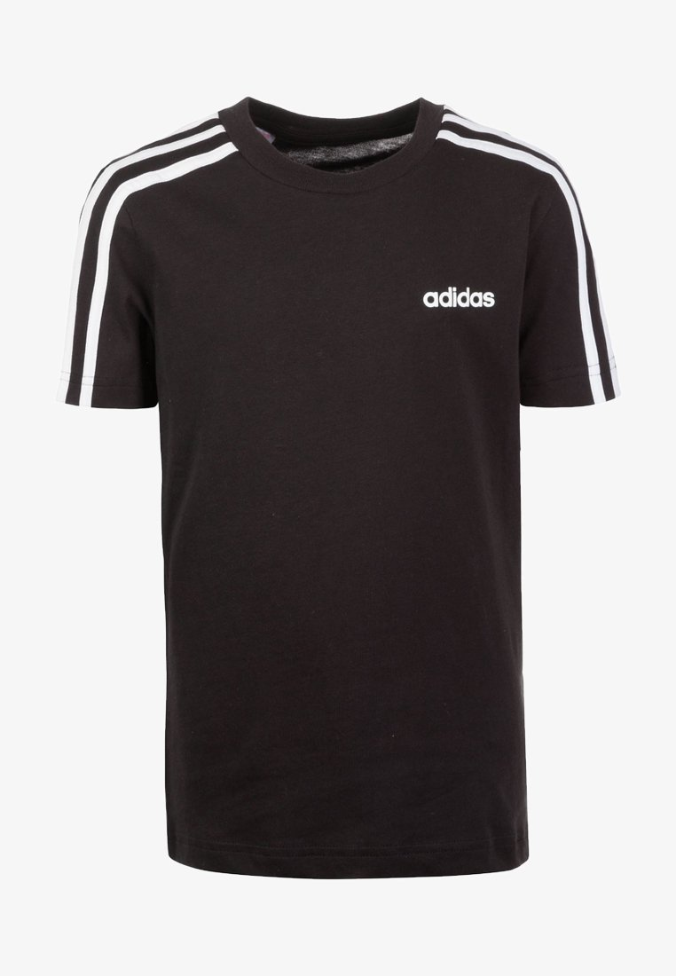 adidas Performance - ESSENTIALS 3STRIPES SPORT SHORT SLEEVE TEE - T-shirt print - black / white