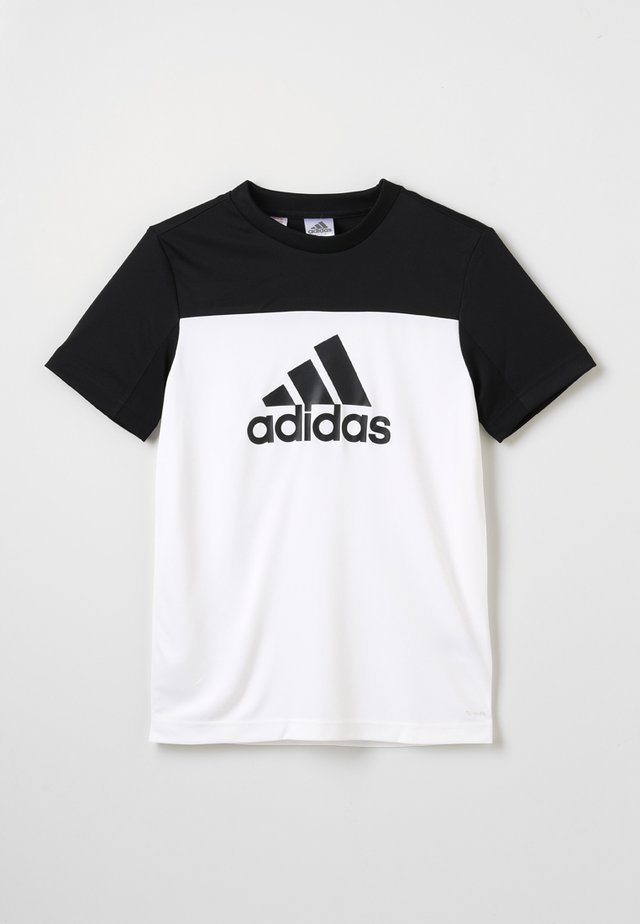 TEE - T-shirts med print - white/black