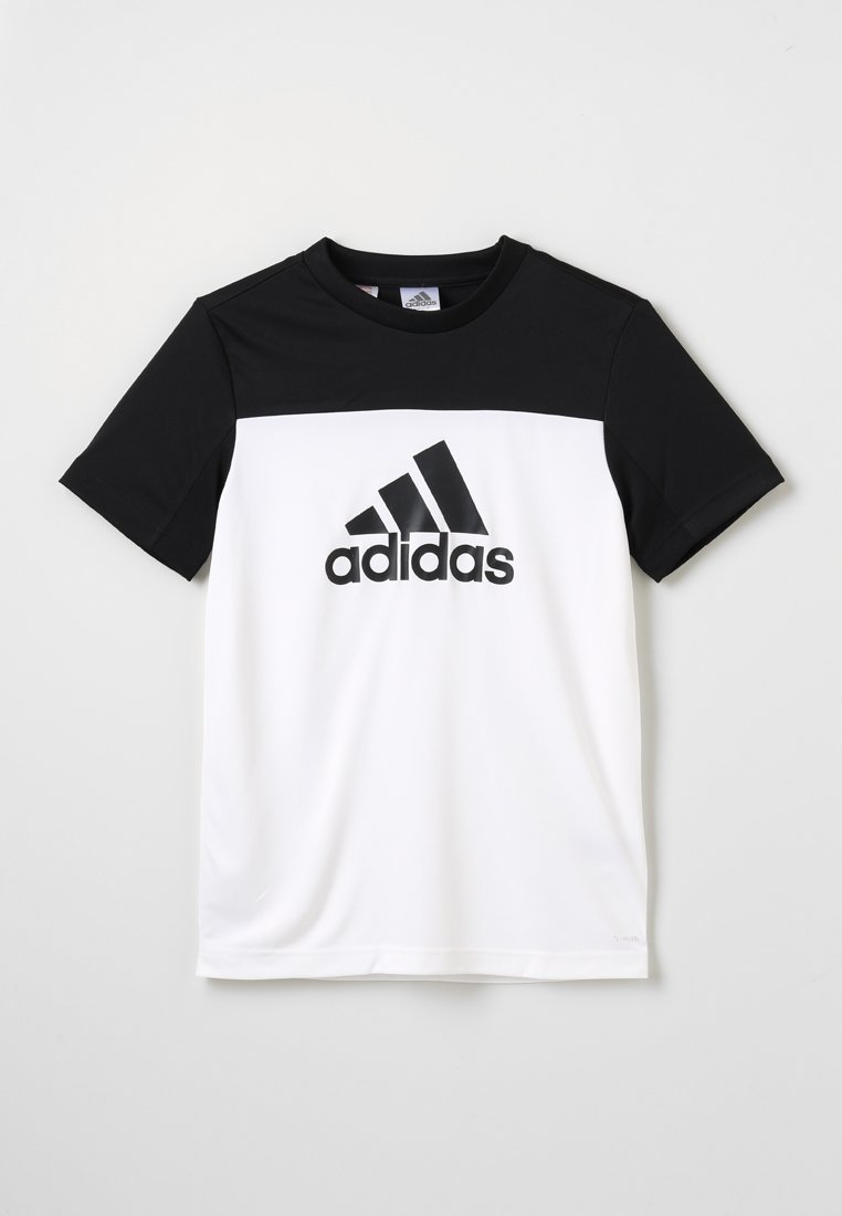 adidas Performance - TEE - T-shirt con stampa - white/black