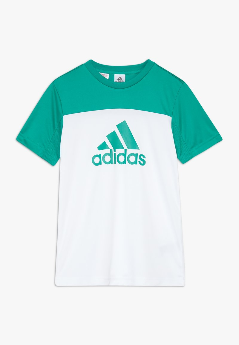 adidas Performance - TEE - T-shirt con stampa - white/green