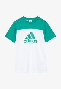 adidas Performance - TEE - T-shirt con stampa - white/green - 2