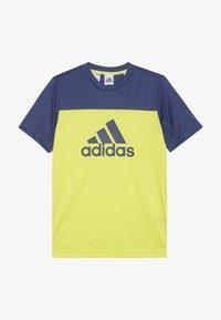 adidas Performance - TEE - T-shirt con stampa - yellow - 2