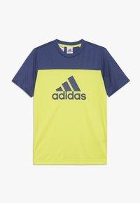 adidas Performance - TEE - Print T-shirt - yellow - 0