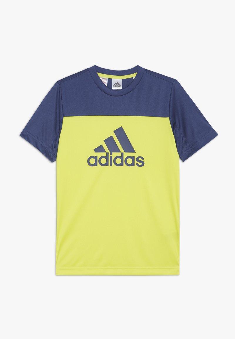 adidas Performance - TEE - Print T-shirt - yellow