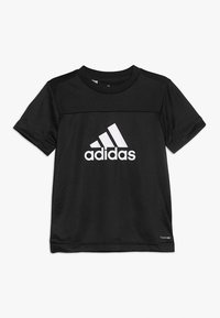 adidas Performance - TEE - Print T-shirt - black/white - 0