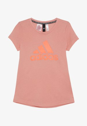 TEE - T-shirt med print - glow pink/signal coral