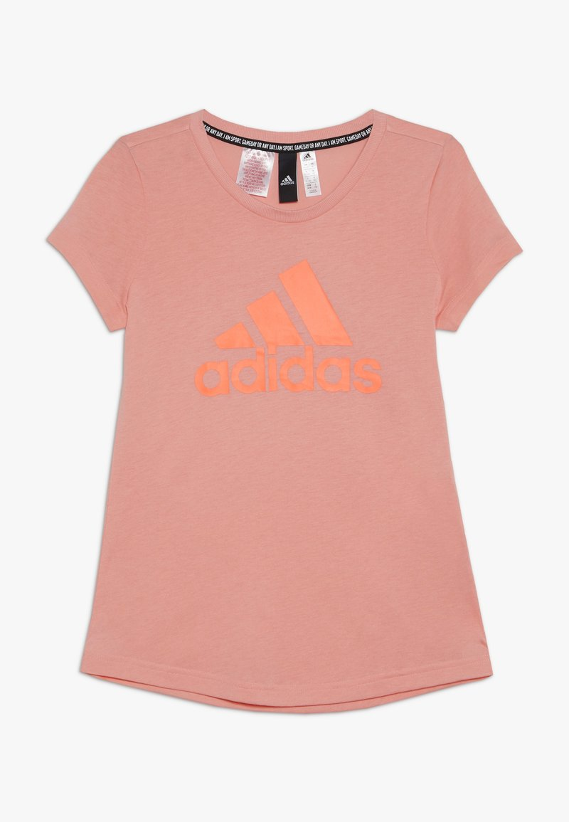 adidas Performance - TEE - T-shirt con stampa - glow pink/signal coral