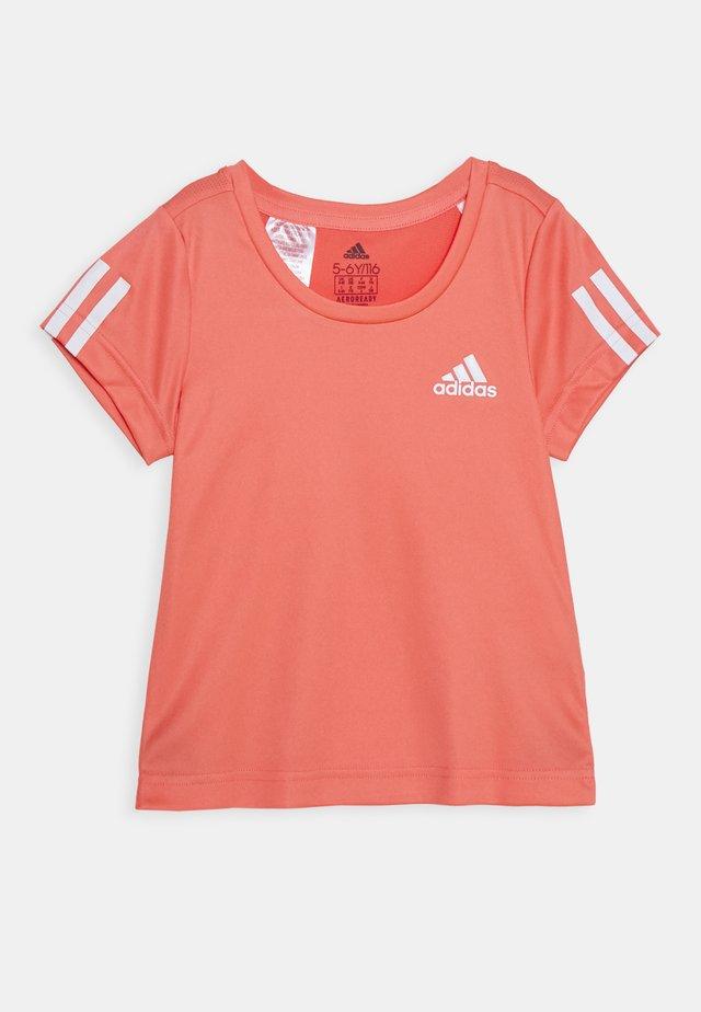 TEE - T-Shirt print - coral/white