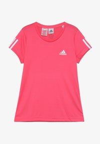 adidas Performance - TEE - T-shirt con stampa - pink/white - 2