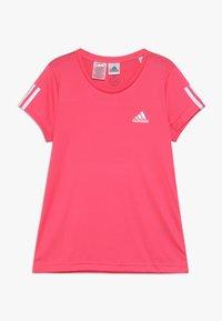 adidas Performance - TEE - T-shirt con stampa - pink/white - 0