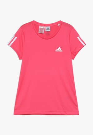 TEE - Print T-shirt - pink/white
