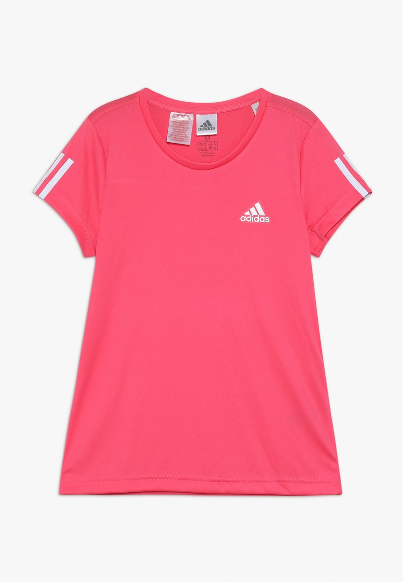 adidas Performance - TEE - T-Shirt print - pink/white
