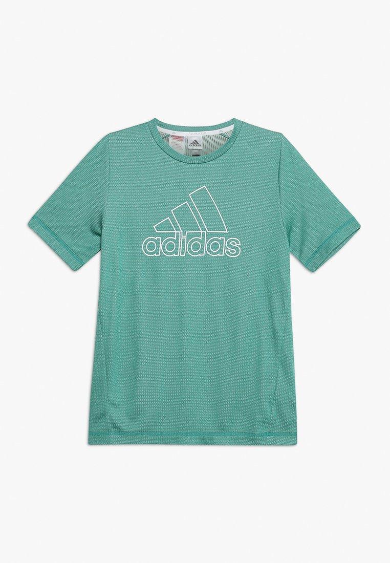 adidas Performance - CHILL TEE - Print T-shirt - dark green