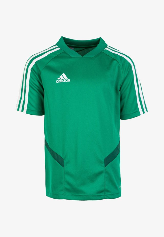 TIRO - T-shirt imprimé - bold green/white