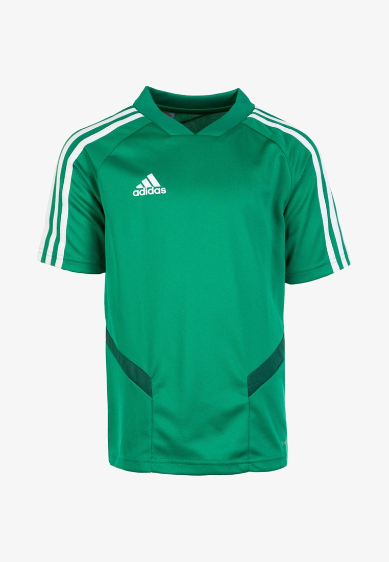 adidas Performance - TIRO - T-shirt imprimé - bold green/white