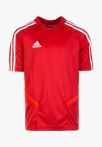 adidas Performance - TIRO - T-shirt imprimé - power red/white - 0