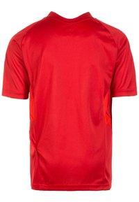 adidas Performance - TIRO - T-shirt imprimé - power red/white - 1