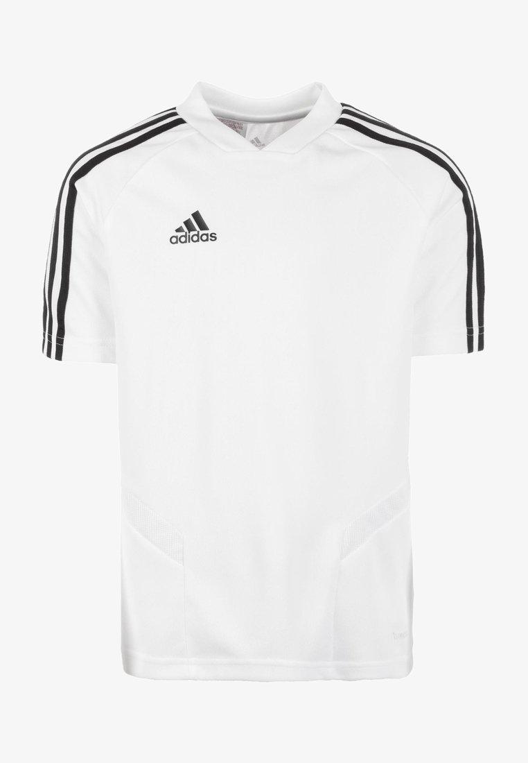 adidas Performance - TIRO 19 TRAININGS - T-shirts print - white/black