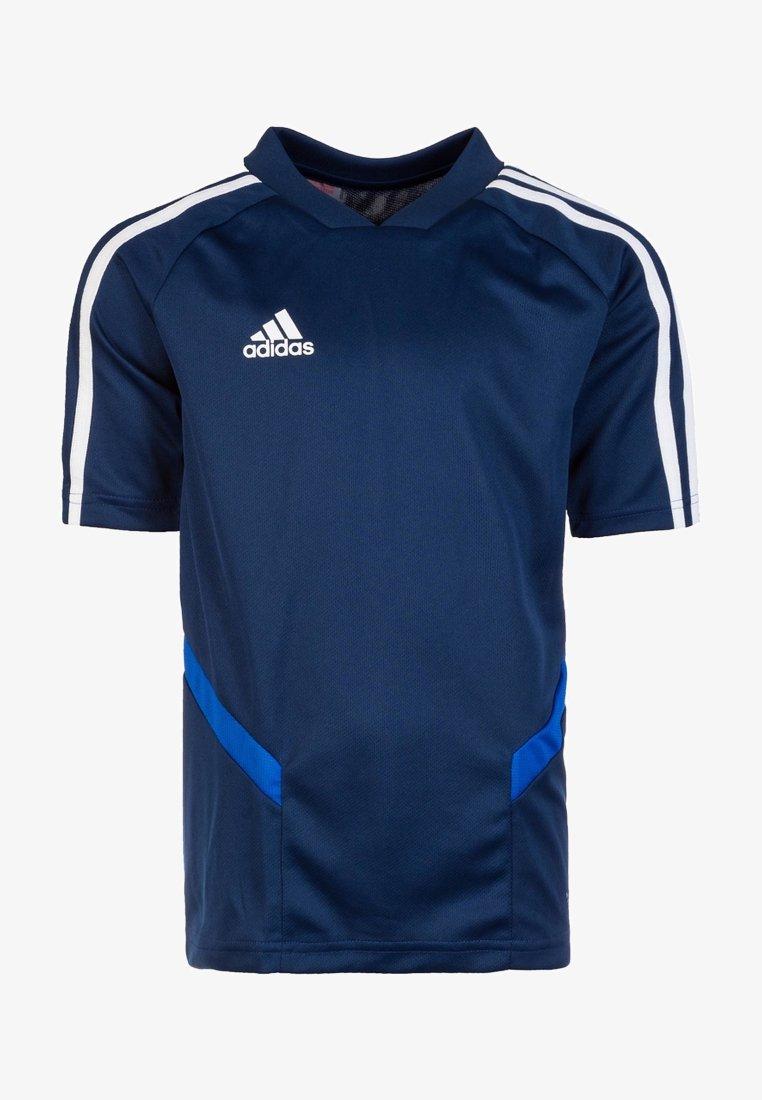 adidas Performance - TIRO 19 TRAININGS - T-shirt print - dark blue/white