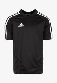 adidas Performance - TIRO 19 TRAININGS - T-shirt imprimé - black/white - 0