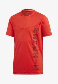 adidas Performance - ADIDAS X NEMESIS - T-shirt print - active red/black - 0
