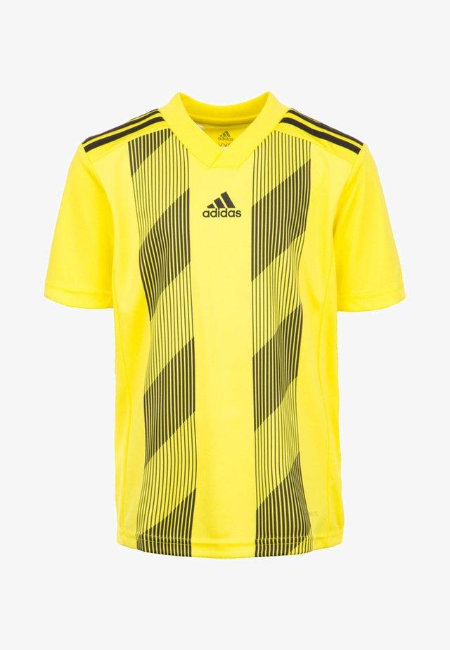 STRIPED 19 - Print T-shirt - bright yellow/black