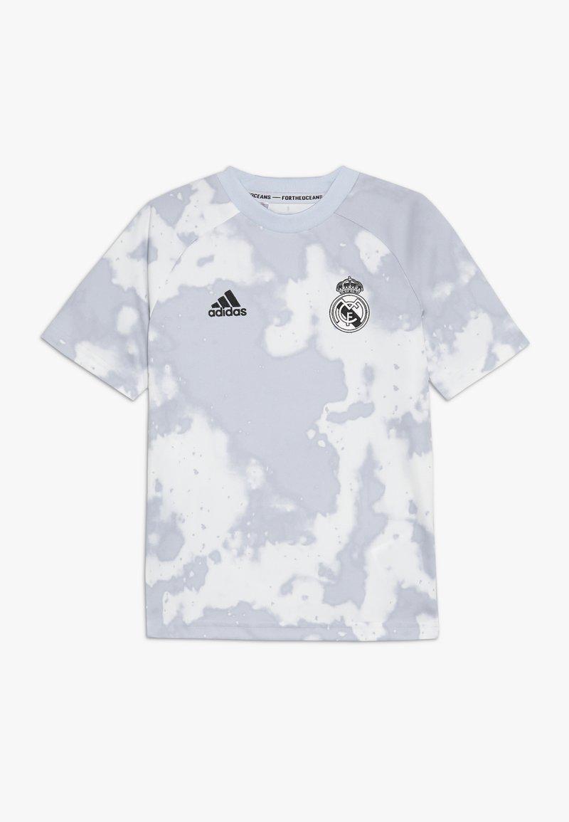 adidas Performance - REAL PRESHI  - T-shirt print - grey/white