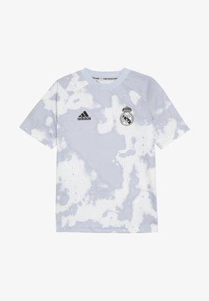 REAL PRESHI  - T-shirt med print - grey/white