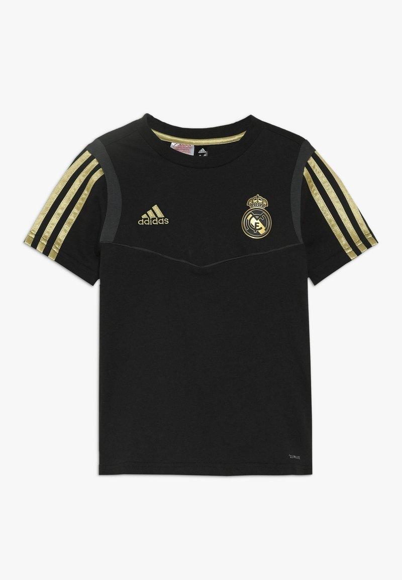 adidas Performance - REAL MADRID TEE - Club wear - black/dark gold