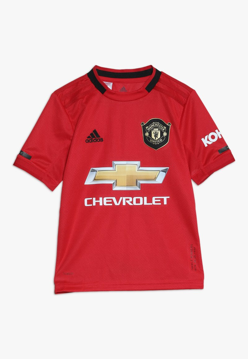 adidas Performance - MANCHESTER UNITED FC HOME - Klubbkläder - real red
