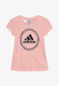 adidas Performance - PRIME TEE - T-shirt med print - glow pink/black - 2