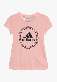 adidas Performance - PRIME TEE - T-shirt med print - glow pink/black - 0