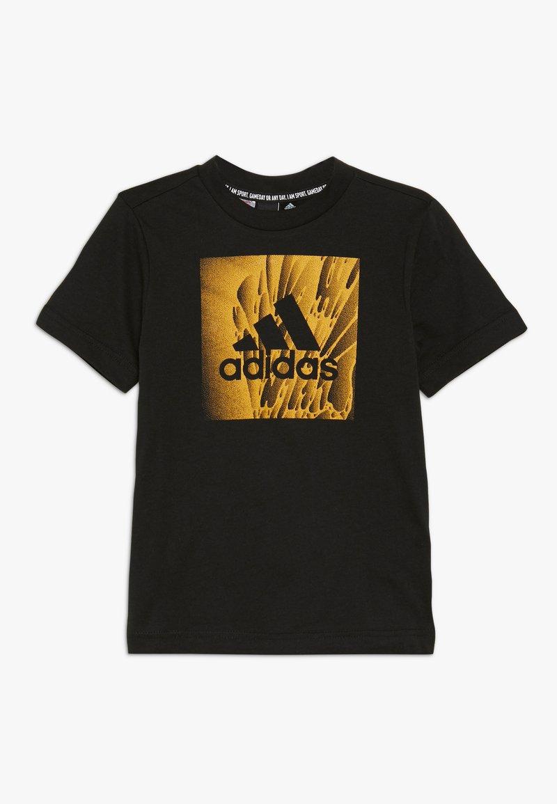 adidas Performance - BOX TEE - T-shirt z nadrukiem - black