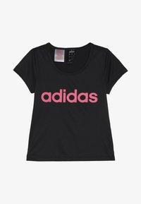 adidas Performance - TEE - T-shirts med print - black/real pink - 2