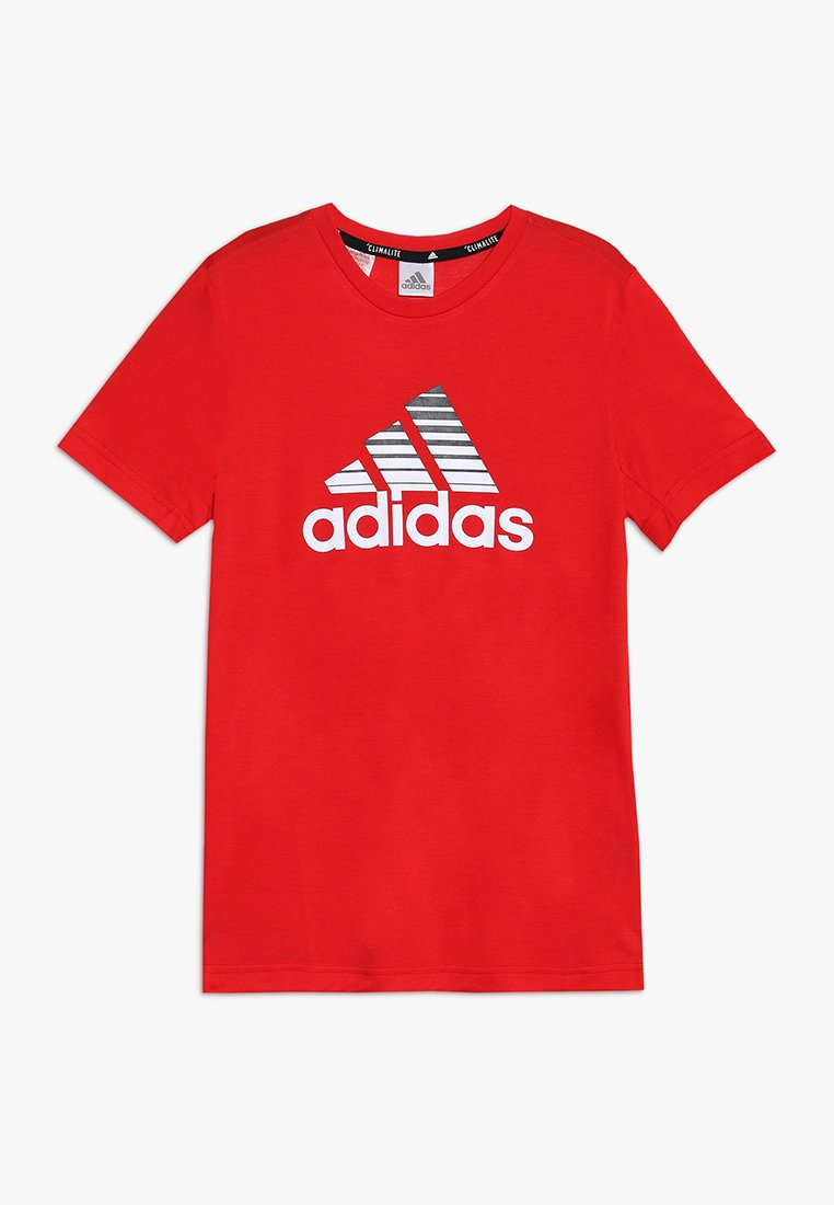 adidas Performance - PRIME TEE - T-Shirt print - scarle/white/black